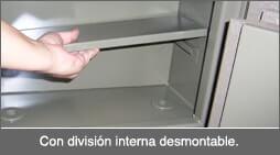 Caja fuerte con división interna
