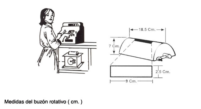 Caja fuerte con buzón rotativo