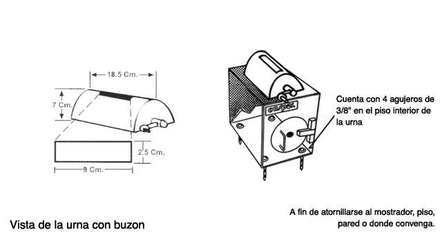 Urna Antiasalto con buzón rotativo