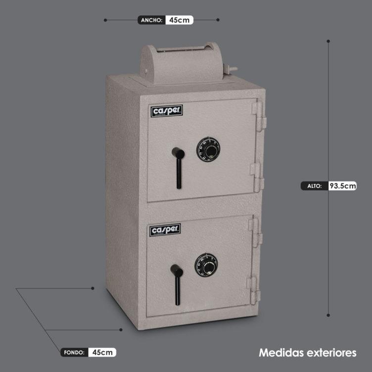 Caja Fuerte 2 en 1 BR-40-40-BM